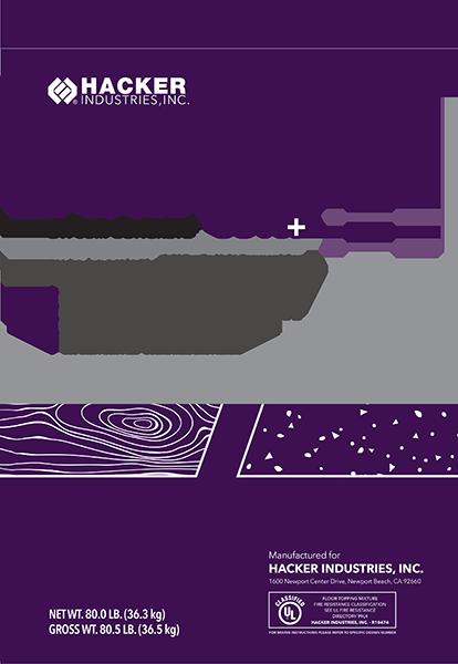 Firm Fill 3310 Gypsum Concrete Floor Underlayments Hacker Industries Inc 800 642 3455